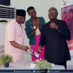 L-R: Executive Director, EVA, Olabukunola Williams (M), and Chairman National Population Commission, Dr Eze Duruiheoma (R)
