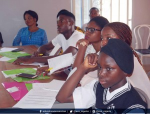 Young advocates during the 03 advocacy training