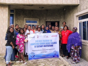 EVA Train Female Students and Gender Heads on Addressing Gender-Based Violence in Tertiary Institutions