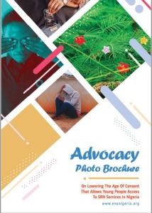 Advocacy Photo Brochure on Lowering Age of Consent to access HIV testing and services